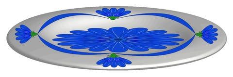 板材,有蓝色花的 库存图片