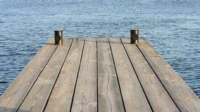 板条木地板,水背景,码头在晴天, 影视素材