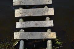 板条桥梁  图库摄影