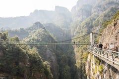 板条路和索桥 库存照片