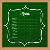黑板标志-菜单 免版税图库摄影