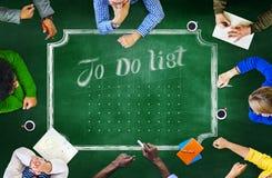 黑板激发灵感合作制定计划会议概念 免版税库存照片