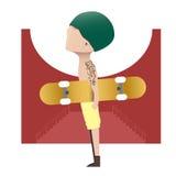滑板男孩 库存图片