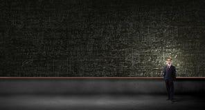 黑板的人 向量例证