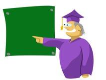 黑板的老师指向的 免版税库存照片