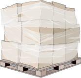 货板箱箱子褐色 免版税库存照片