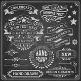 黑板设计元素 免版税库存图片
