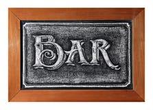 黑板酒吧标志 库存照片