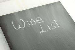 黑板酒类一览表 库存照片