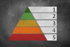 黑板金字塔 库存图片