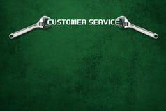 板钳拿着字法,顾客服务 库存图片