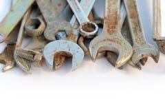 板钳集合,生锈的工具,小组板钳 图库摄影