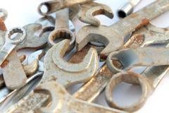 板钳集合,生锈的工具,小组板钳 库存图片