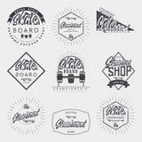 滑板-权威,徽章,标签,标志,印刷品,邮票,可以用于设计 免版税库存图片