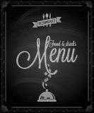 黑板-框架食物菜单 库存图片