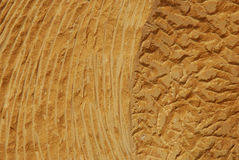 板刻沙子石头纹理 库存照片