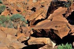 板刻纳米比亚岩石twyfelfontein 免版税库存照片