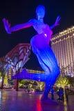 极乐舞蹈雕塑在拉斯维加斯 库存照片