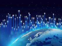 极光光学borealis的纤维 向量例证