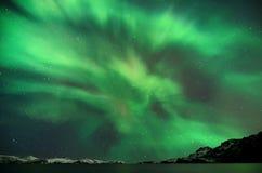 极光北极星闪光  免版税库存照片