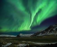 极光北极星闪光  库存图片