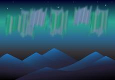 极光北极星 图库摄影