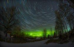 极光北极星 免版税图库摄影