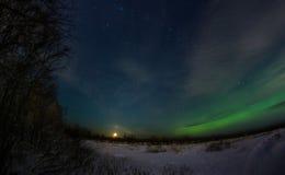极光北极星 库存图片