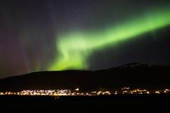 极光在挪威 库存照片