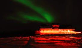 极光在费尔班克斯阿拉斯加 免版税库存照片