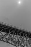极光桥梁-西雅图下面  库存图片