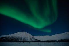 极光轻的月球北极星 免版税库存图片
