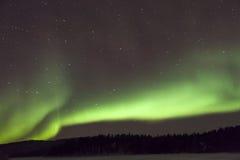 极光Borealis在Inari,拉普兰,芬兰 库存照片