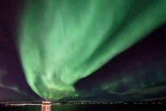 极光Borealis -斯堪的那维亚 免版税库存照片