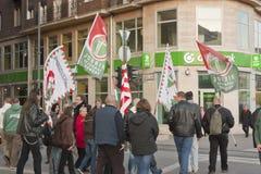 极其右派罢工在3月15日的布达佩斯 免版税库存图片