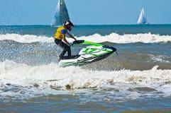 极其喷气机滑雪watersports 免版税图库摄影