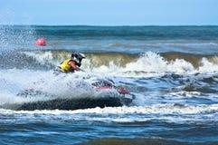 极其喷气机滑雪watersports 免版税库存照片