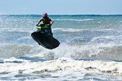 极其喷气机滑雪watersports 图库摄影