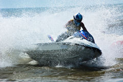 极其喷气机滑雪watersports 免版税库存图片