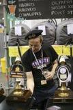 极大啤酒酿酒者英国的节日 库存照片