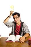 极大有想法学员学习年轻人 免版税图库摄影