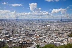 极大的全景巴黎地平线 库存照片