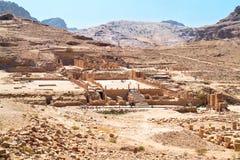 极大的寺庙, Petra古老城市,乔丹 免版税图库摄影