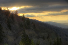 极大的山国家公园smokey 免版税库存照片