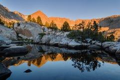 极大的山山国家公园发烟性日出田纳西美国 库存照片