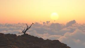 极大的山山国家公园发烟性日出田纳西美国 库存图片