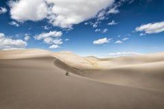 极大的沙丘国家公园,科罗拉多,美国 图库摄影