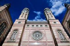 极大的犹太教堂。 布达佩斯,匈牙利 免版税库存照片