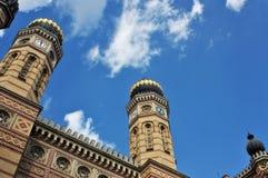 极大的犹太教堂在布达佩斯匈牙利 库存照片