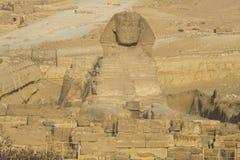 极大的狮身人面象 埃及狮身人面象 世界的第七奇迹 古老巨石 库存图片